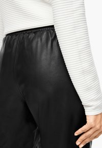 s.Oliver BLACK LABEL - Leather trousers - black - 4