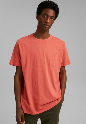 T-shirts basic - coral red