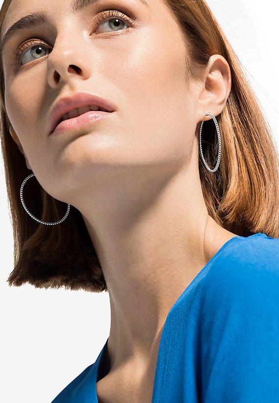 QOOQI - Earrings - silver-coloured