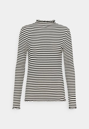 STRIPE MIX TRUTTE - Long sleeved top - off white/black