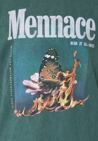 Mennace - BUTTERFLY GRAPHIC UNISEX  - T-shirt imprimé - washed mint - 6