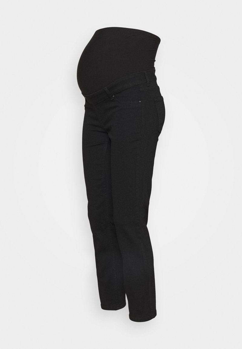 Anna Field MAMA - OVERBUMP straight leg jeans - Straight leg jeans - black