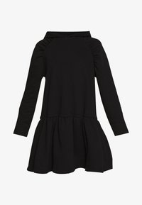 NA-KD - GATHERED HOODIE DRESS - Day dress - black - 3