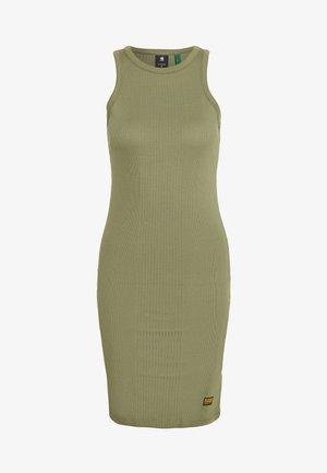 RIB TANK DRESS SLIM R WMN SLS - Jersey dress - sage
