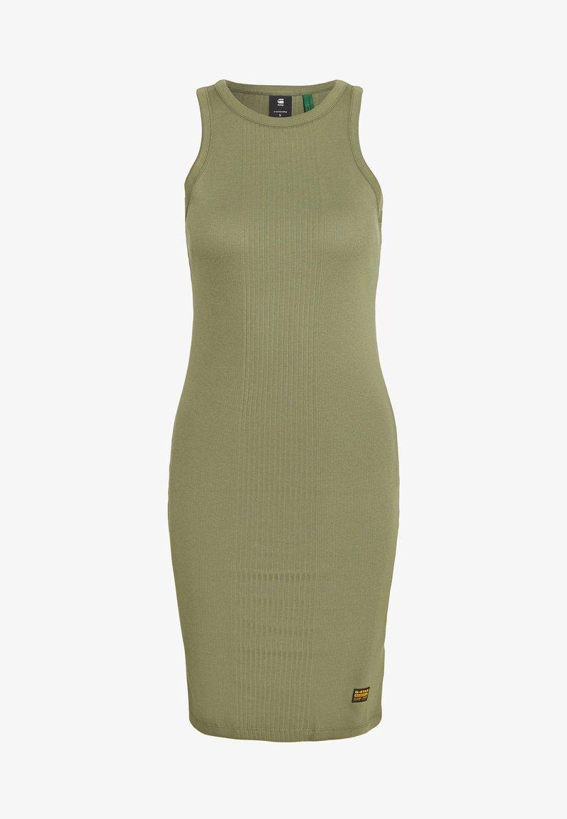 G-Star - RIB TANK DRESS SLIM R WMN SLS - Vestido ligero - sage