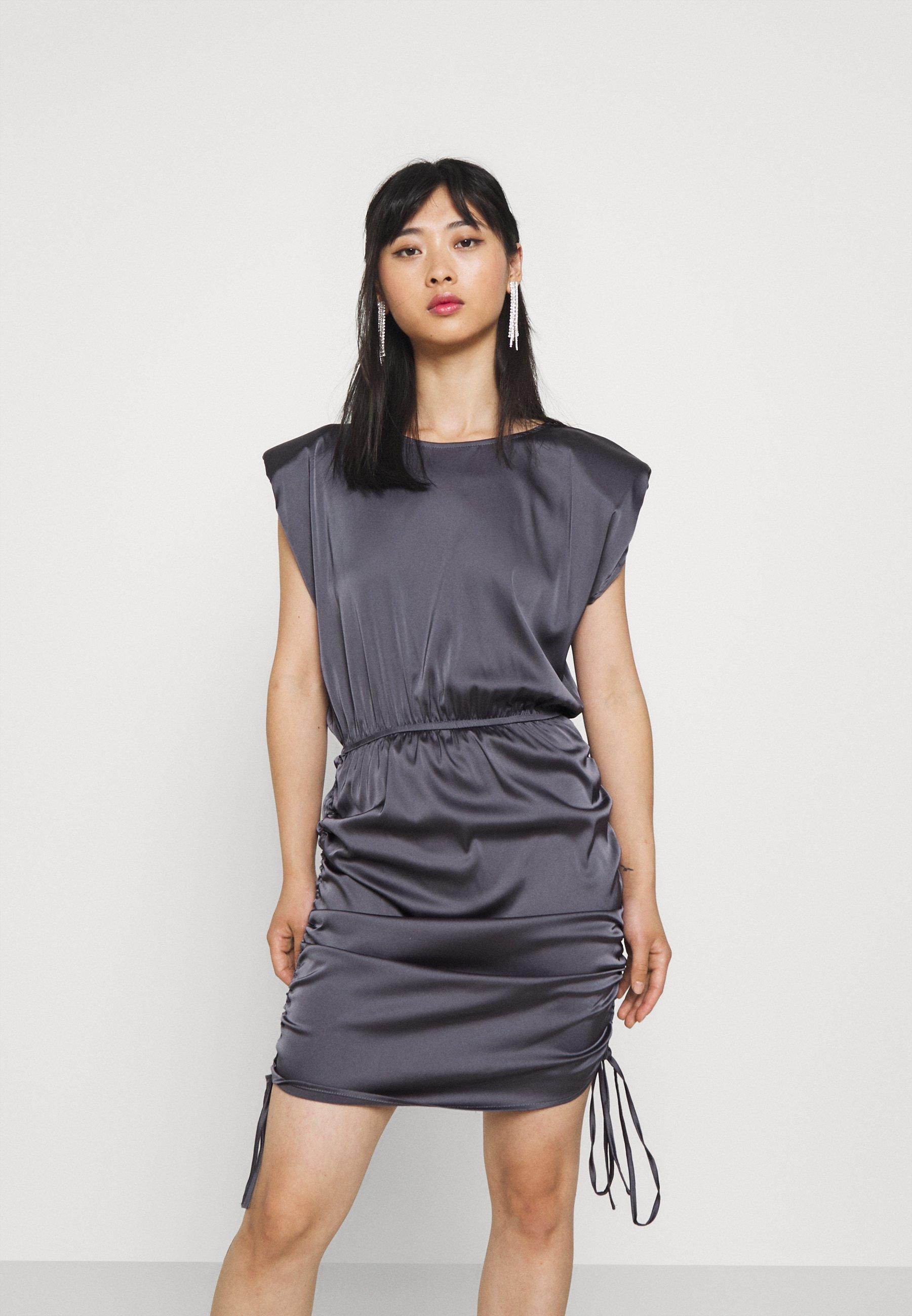 Damen SHOULDER PAD DRAWSTRING MINI DRESS - Cocktailkleid/festliches Kleid
