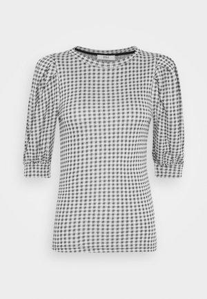 ONLSANDY CHECK - T-shirts med print - light grey melange