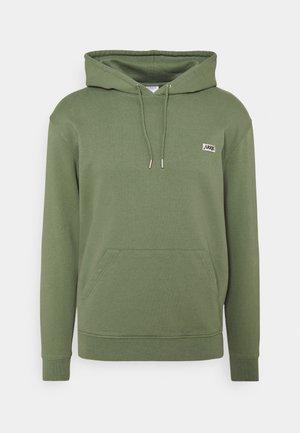 BOX LOGO HOODIE - Sweater - oil green