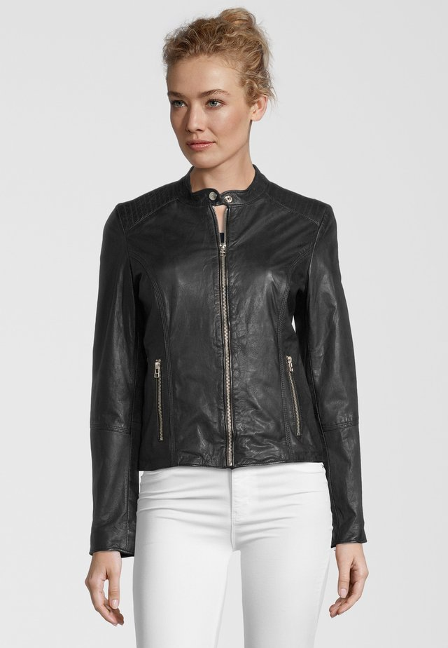 BLAIR BIKER - Leather jacket - black