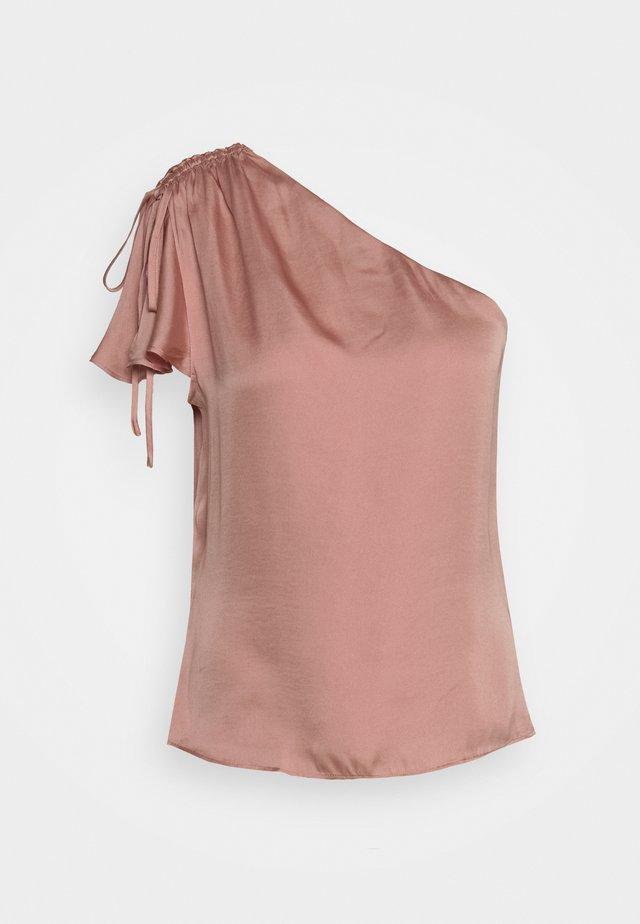 ONE SHOULDER RUFFLE - Blouse - blush glow