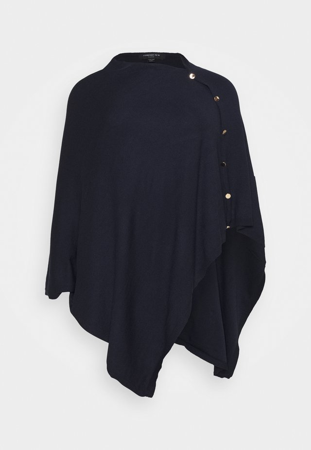 TIFFANY BUTTON PONCHO - Vest - navy