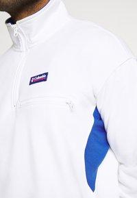Columbia - BUGA QUARTER ZIP - Sweatshirt - white/lapis blue - 5