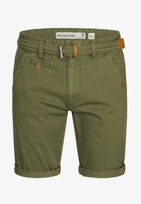 INDICODE JEANS - CASUAL FIT - Shorts - grün army - 5
