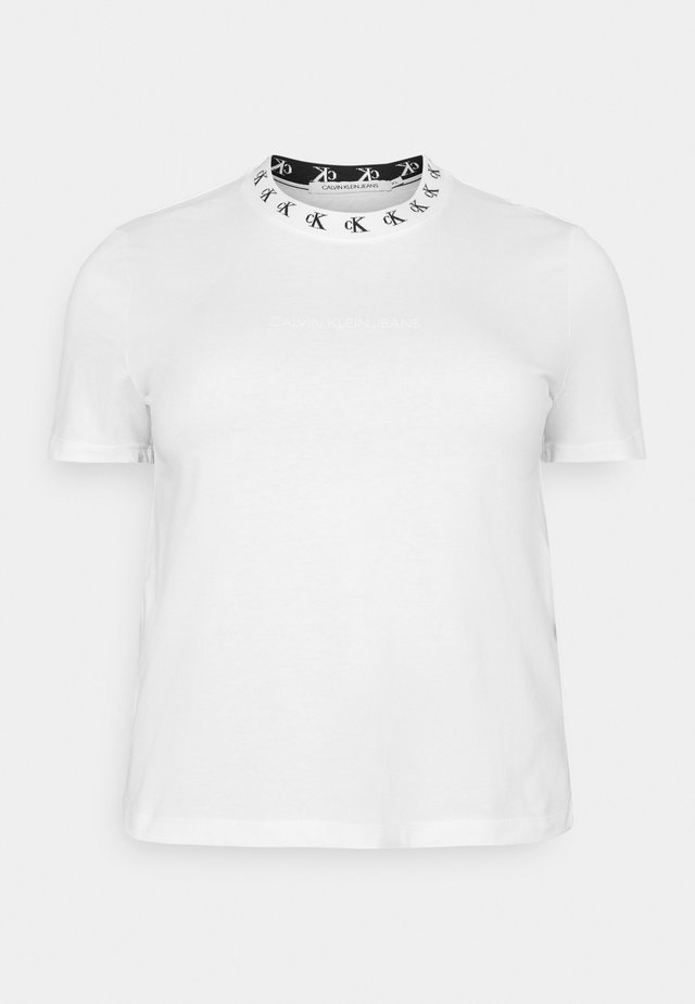 PLUS LOGO TRIM TEE - T-shirt con stampa - white
