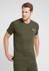 Puma - EVOSTRIPE TEE - Basic T-shirt - forest night - 0