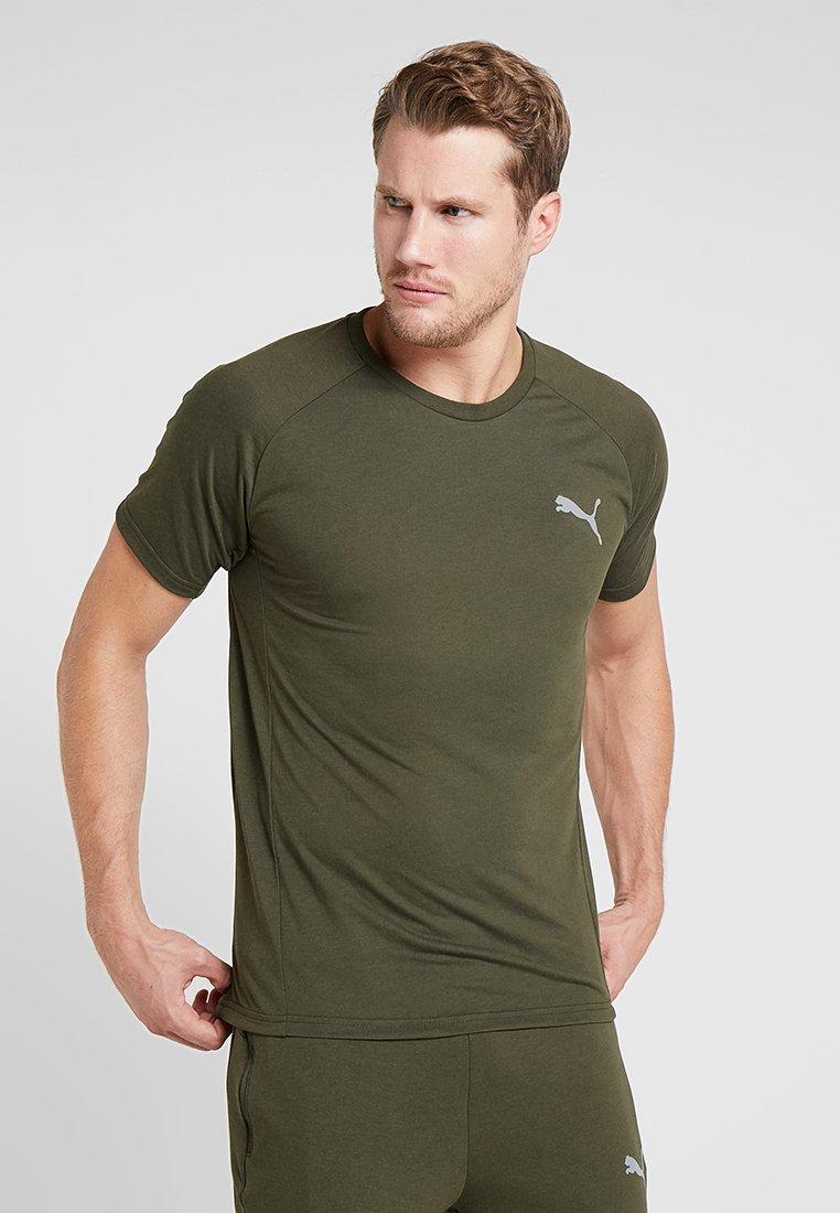 Puma - EVOSTRIPE TEE - Basic T-shirt - forest night