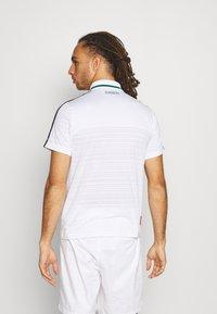 Lacoste Sport - TENNIS  - Poloshirt - white/bottle green/navy blue - 2
