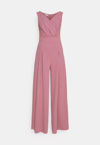 ADELINA WIDE LEG - Jumpsuit - mauve pink