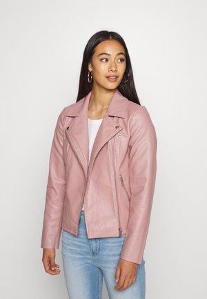 ONLMELISA BIKER - Faux leather jacket - woodrose