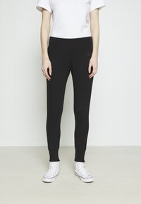 Converse - PANT CLASSIC HIGH - Tracksuit bottoms - black - 0