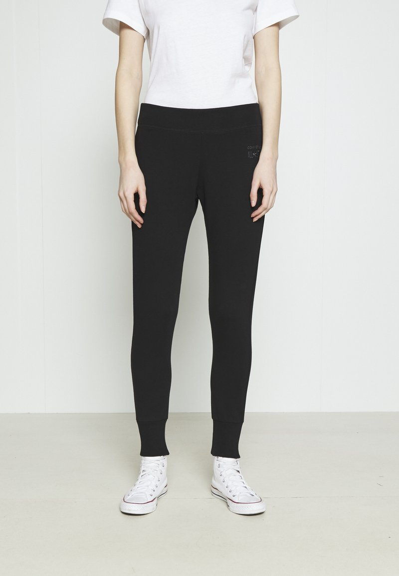 Converse - PANT CLASSIC HIGH - Tracksuit bottoms - black