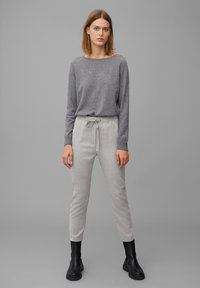 Marc O'Polo - Trousers - middle stone melange - 1