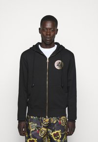 Versace Jeans Couture - FULL ZIP HOODIE WITH LOGO - Bluza rozpinana - nero - 0