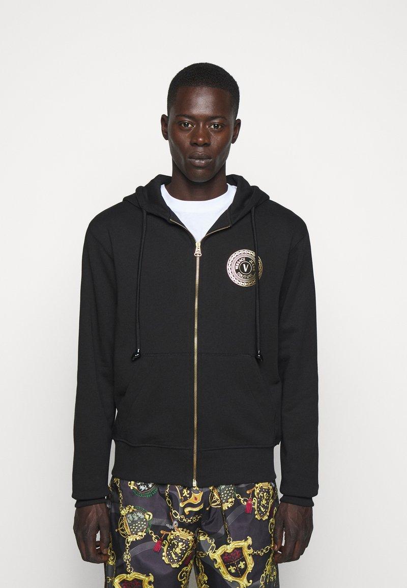 Versace Jeans Couture - FULL ZIP HOODIE WITH LOGO - veste en sweat zippée - nero