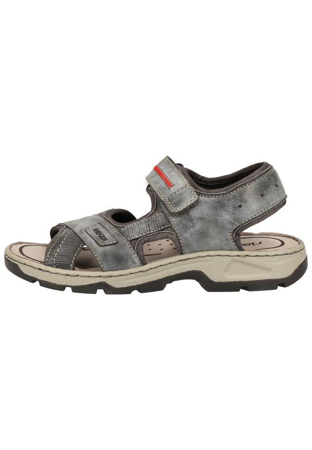 SANDALEN - Sandalias de senderismo - ozean/asphalt/rauch 14