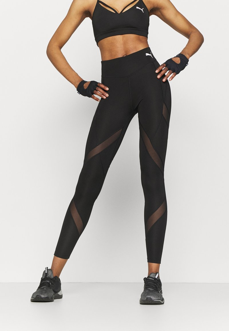 Puma - PAMELA REIF X PUMA MID WAIST LEGGINGS - Leggings - black