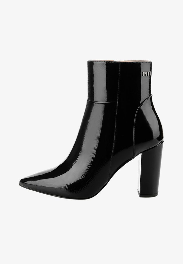 VALDIERI - Bottines à talons hauts - black