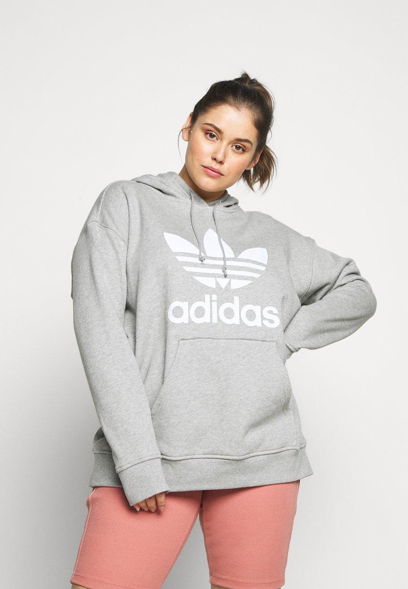 adidas Originals - HOODIE - Hoodie - grey/white
