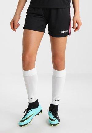 PROGRESS SHORT CONTRAST - Teamwear - black/pop