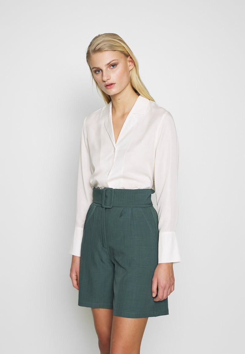 Selected Femme - SLFIDA LONG SHIRT  - Camisa - snow white