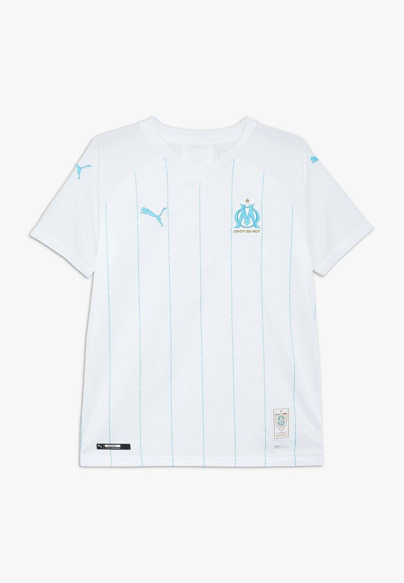 Puma - OLYMPIQUE MARSAILLE HOME REPLICA WITH SPONSOR - Club wear - white