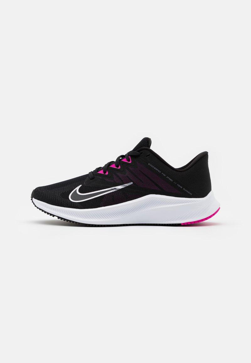 Nike Performance - QUEST 3 - Obuwie do biegania treningowe - black/metallic cool grey/dark smoke grey