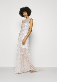 Maya Deluxe - ALL OVER EMBELLISHED MAXI DRESS WITH TRAIN - Iltapuku - soft grey - 1
