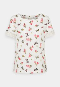 Springfield - CROCHET - T-shirts med print - beige/camel - 0
