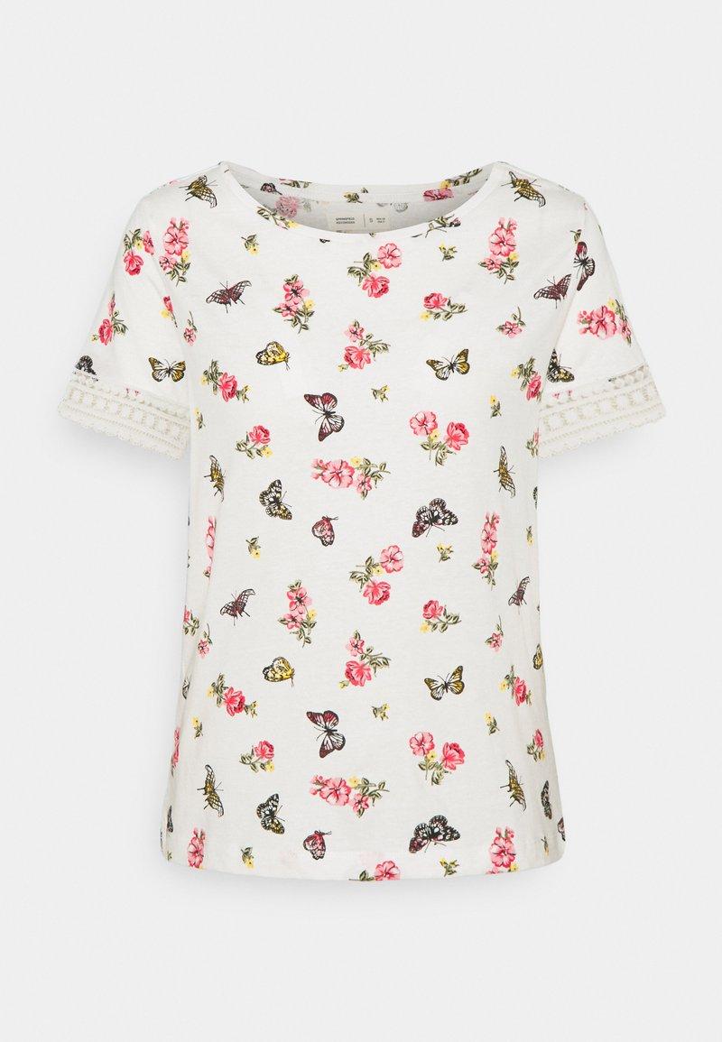 Springfield - CROCHET - T-shirts med print - beige/camel