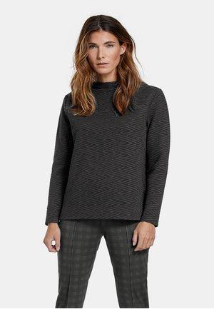 MIT STRUKTUR - Long sleeved top - schwarz