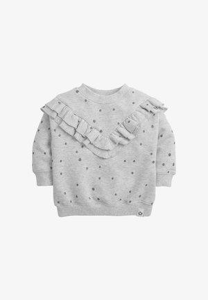 GLITTER SPOT FRILL  - Sweatshirt - grey