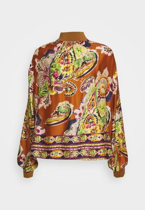 Blouse - camel/multicolour