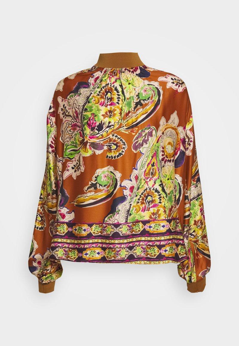 Emily van den Bergh - Blouse - camel/multicolour
