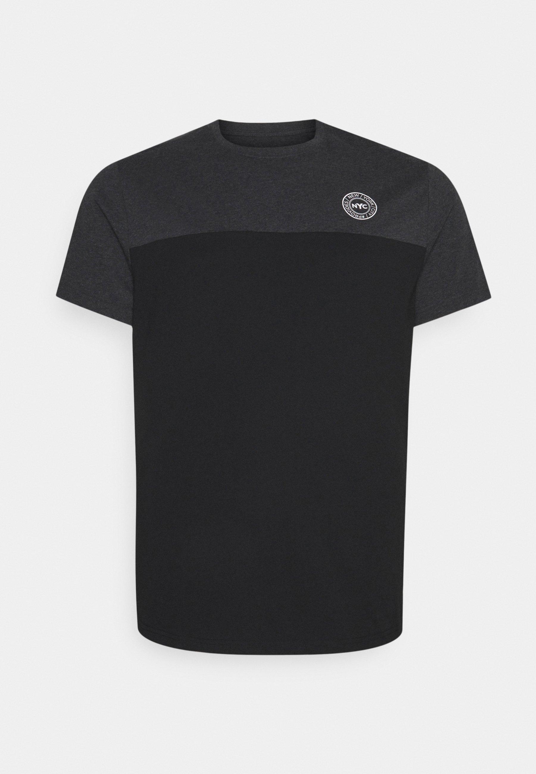 Men SPLICE LONGLINE SCOOP TEE - Print T-shirt