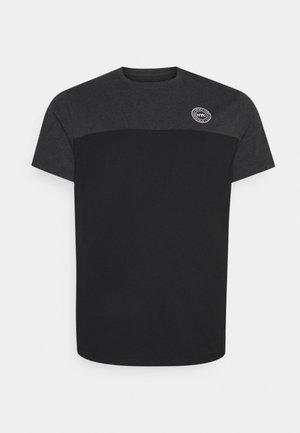 SPLICE LONGLINE SCOOP TEE - Print T-shirt - charcoal