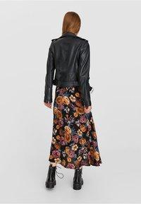 Stradivarius - Leather jacket - black - 2