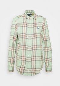 Polo Ralph Lauren - GEORGIA LONG SLEEVE BUTTON FRONT - Button-down blouse - green/multi - 3