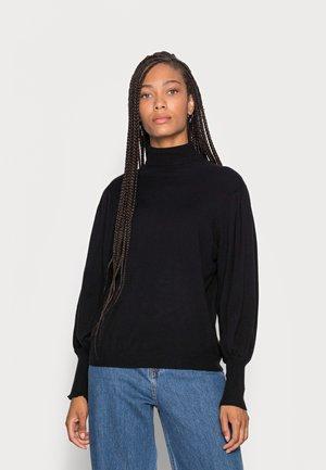 JESS - Stickad tröja - black deep