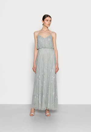 BEADED GOWN - Occasion wear - frosted sage