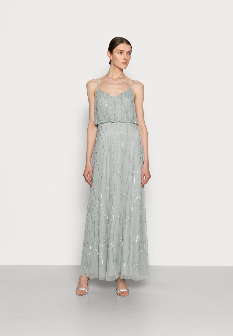 Adrianna Papell - BEADED GOWN - Occasion wear - frosted sage